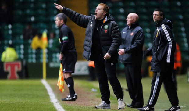 bf533cf675 Celtic manager Neil Lennon during the Clydesdale Bank Scottish Premier  League match against Dundee United