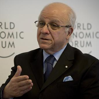 Algerian foreign minister Mourad Medelci speaks at the World Economic Forum in Davos, Switzerland (AP)