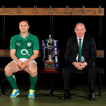 Jamie Heaslip, left, and Declan Kidney will lead Ireland into the RBS 6 Nations