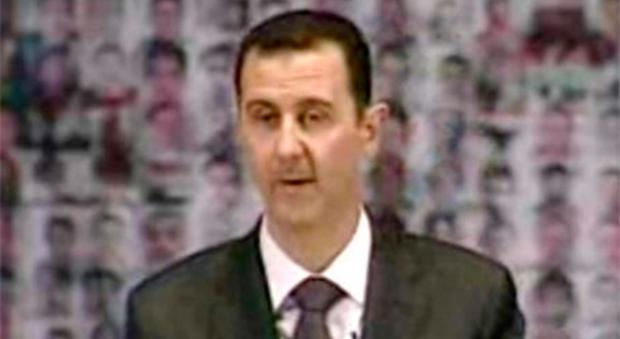 Syrian President Bashar Assad on Syrian State Television earlier this month.