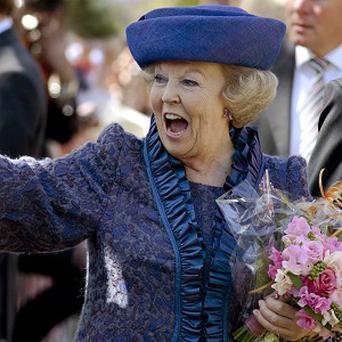 Queen Beatrix is set to be succeeded by her eldest son, Crown Prince Willem-Alexander (AP)