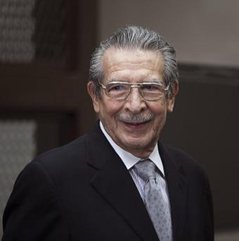 Guatemala's former dictator Jose Efrain Rios Montt attends a hearing in Guatemala City (AP/Moises Castillo)