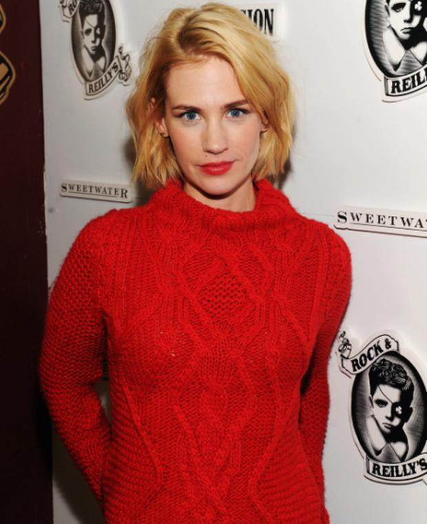 January Jones has disclosed that her locks had fallen out in clumps because she dyed it too often
