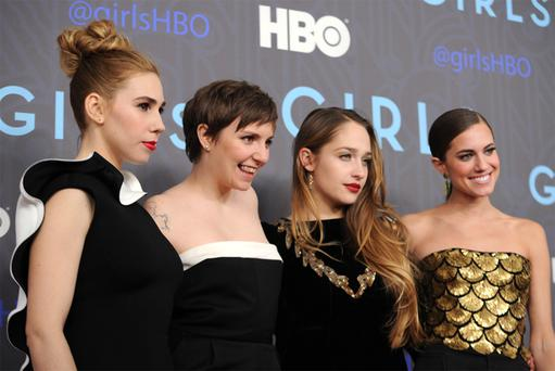 From disappointing sex, jobs and apartments, Lena Dunham (second from left) has mined TV gold.