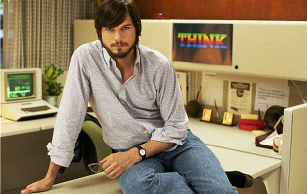 Ashton Kutcher plays Steve Jobs in the biopic jOBS