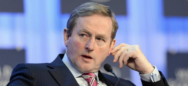 Irish Prime Minister Enda Kenny attends a panel session of the 43rd Annual Meeting of the World Economic Forum, WEF, in Davos, Switzerland, Thursday, Jan. 24, 2013. (AP Photo/Keystone/Laurent Gillieron)