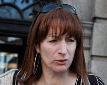 Clare Daly ,Independent (Socialist party) deputy for Dubin North at Leinster House yesterday.Pic Tom Burke 21/11/12