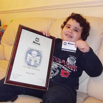 Sherwyn Sarabi has become one of the youngest members of Mensa