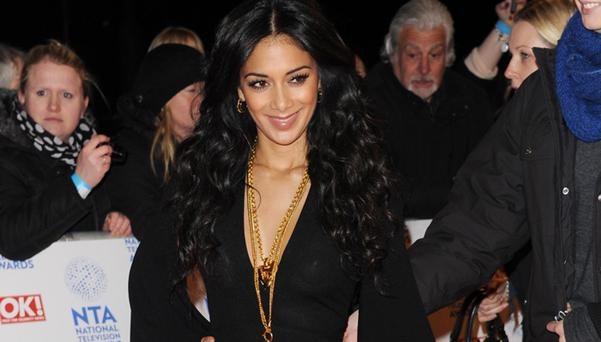 Nicole Scherzinger showed more than she intended to at the National Television Awards