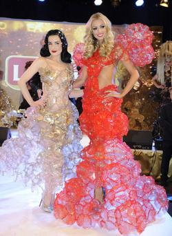 The model took to the catwalk with Dita Von Teese
