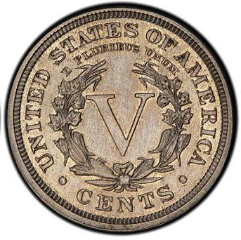 An authentic 1913 Liberty Head nickel that was hidden in a Virginia closet for 41 years (AP/courtesy of Heritage Auctions)