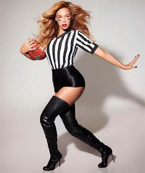 Beyonce in rehearsals for Superbowl performance