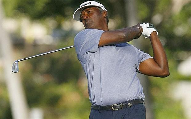 30 January, 2013: Vijay Singh chas been caught up in 'deer antler spray' controversy with reports it contains a banned growth hormone. Photo: Reuters