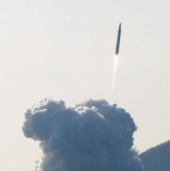 South Korea's rocket takes off from its launch pad at the Naro Space Center in Goheung (AP/Yonhap)