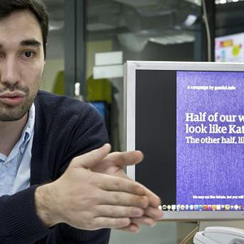 Claudiu Pandaru, editor in chief of the Gandul daily online newspaper, says Romanians are being mocked. (AP)