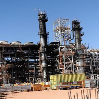 A part of the gas plant in In Amenas, in Algeria (AP)