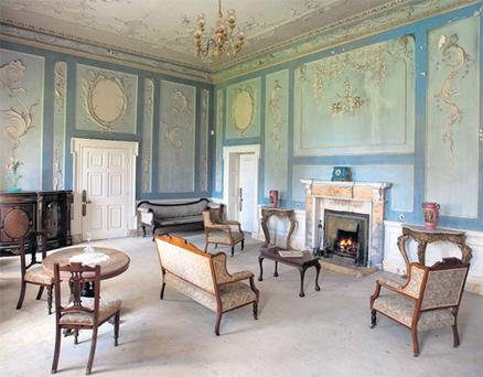 Dowth Hall's drawing room