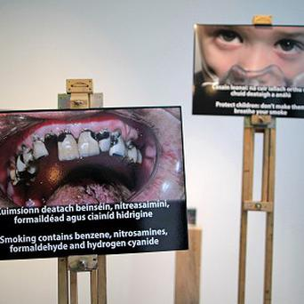 Photographs which will appear on cigarette packaging sold in Ireland at the RHA Gallery, Dublin