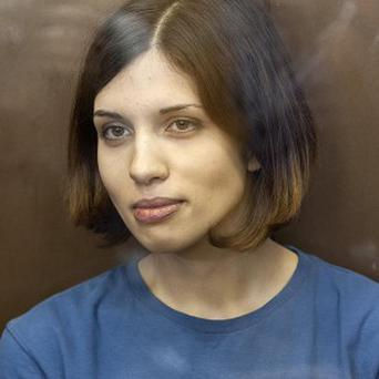Feminist punk group Pussy Riot member Nadezhda Tolokonnikova has been taken to a prison hospital in Russia (AP)