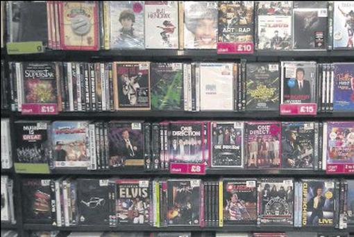 Hopes that DVD and 'boxsets' sales would make up for the music slump have all but disappeared with faster broadband and the growth of Netflix and other services.