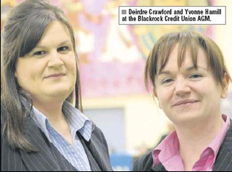 Deirdre Crawford and Yvonne Hamill at the Blackrock Credit Union AGM.