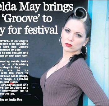 RIGHT: Headline act Imelda May.