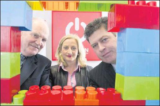Áine Collins TD and Charleville Chamber members Jim O'Mahony and President PJ McCarthy are hoing to creating the building blocks of success for the North Cork SME sector.