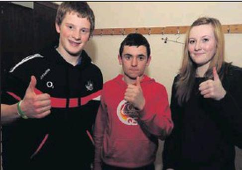 The Boherbue question time team of David O'Keeffe, Bryan Herlihy and Niamh Murphy represent Cork in the Munster Scór na Óg finals. Picture John Tarrant
