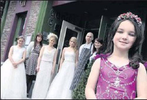 Caitriona Healy led the elegant cast at the recent Castle Hotel wedding fair day in Macroom.