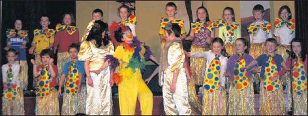 Pupils of Scoil Lachtaín Naofa in the Lion King at the Ionad Pobal Cill na Martra. Credit: Photo by Joan Mcloughlin