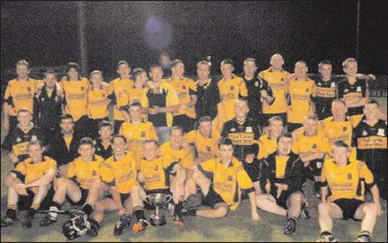 Castlemagner celebrate a county Junior B Hurling Championship title 2012.