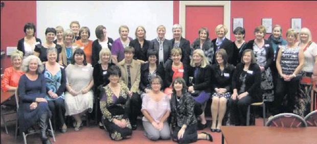 Ladies from the Sacred Heart class of 1972, enjoying the 40th anniversary reunion at their old school.