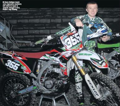Shane Mulligan boasts some impressive machinery with which he hopes to compete strongly in 2013. Picture: Jayo Fleming