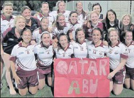Swords native Aine Deasy, pictured back left, with her Oryx na hEireann teammates.