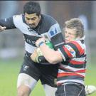 Action from Enniscorthy's last Leinster League game away to Dundalk.