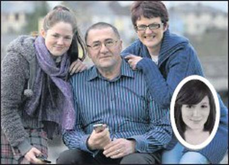 Twenty six year-old Fodhla Cronin O'Reilly (inset) from Cromane has become the first person from Kerry to be nominated for an Oscar. Pictured are Fodhla's parents Patrick and Irene and her sister Grainne Cronin O'Reilly who are over the moon about the... Credit: Photo by Michelle Cooper Galvin