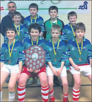The Dingle U-14 indoor soccer team that were crowned Community Games champions for 2013 at the county finals held in Annascaul at the weekend