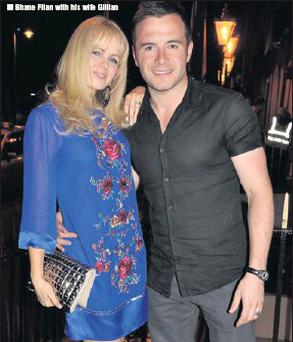 Shane Filan with his wife Gillian