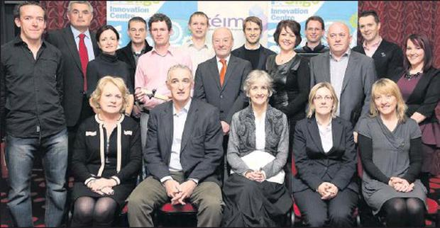 Pictured at the event to mark the end of the CEIM Enterprise Platform Programme are; Front Row (l to r); Mena Doherty, Bank of Ireland; George Mullan, CEO Support in Sport and Keynote Speaker; Linda Moffatt, President of Sligo Chamber; Louise Coen,...