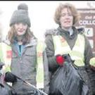Collooney residents from left, Mary Lynch, Deirdre McDermott, Roisin McNeill and Frances Molloy helping at the roadside clean up between Ballisodare and Collooney last Saturday morning.