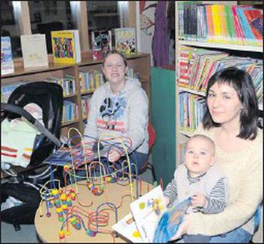 Attending the Parent and Toddler group in Ballymote Libary were Patricia Lawrence with baby Joshua, and Katie Neary with baby Rowan