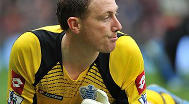 Paddy Kenny while at QPR with Neil Warnock