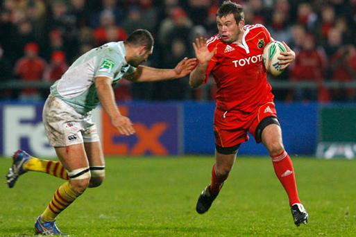 Former Munster hooker Denis Fogarty has retired from the sport through injury. Photo: Getty Images