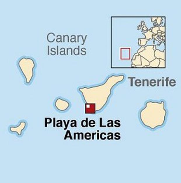 The incident allegedly happened on Playa de Las Americas