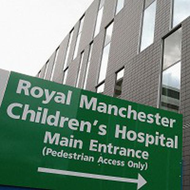 The youngster was taken by ambulance to the Manchester Children's Hospital