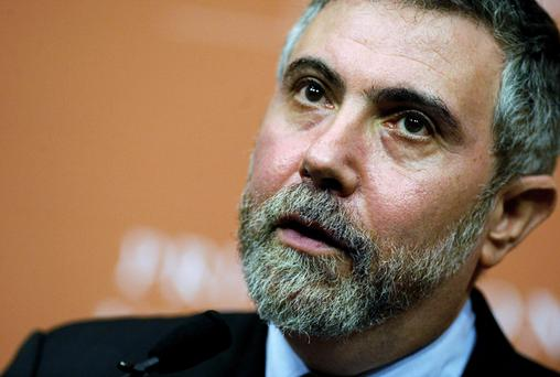 CRACK: Krugman tweeted about 'leprechaun economics'. (Photo: Jeff Zelevansky/Getty Images)