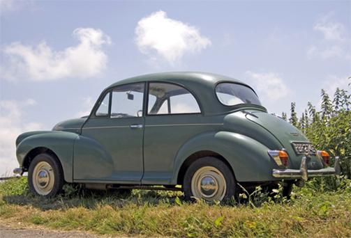 Morris Minor - car interiors have changed significantly