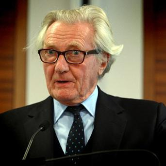 Lord Heseltine has denied killing his mother's dog