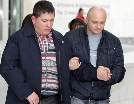 Gheorghe Pista (left) at a previous court hearing