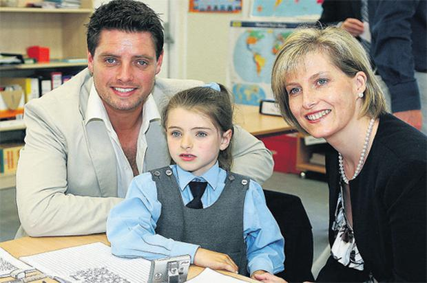 Keith Duffy and his daughter Mia, who lives with autism